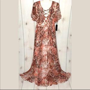 NWT Lulu's Time to Celebrate Blush Pink Maxi Dress